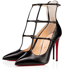 Christian Louboutin 'Toerless Muse' Leather T-Strap Pumps