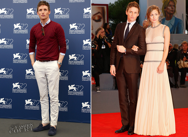 Eddie Redmayne in Gucci & Valentino | 'The Danish Girl' Photocall & Premiere - 2015 Venice Film Festival