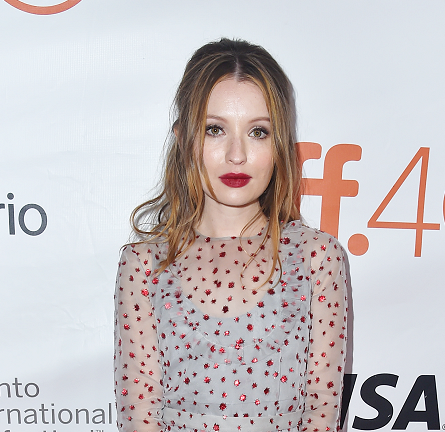 Emily Browning in Miu Miu | 'Legend' Premiere - 2015 Toronto International Film Festival