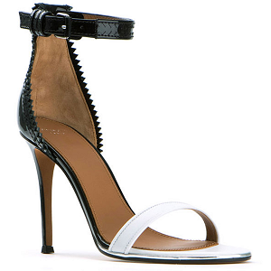 Givenchy Two-Tone Leather Ankle Strap Sandals