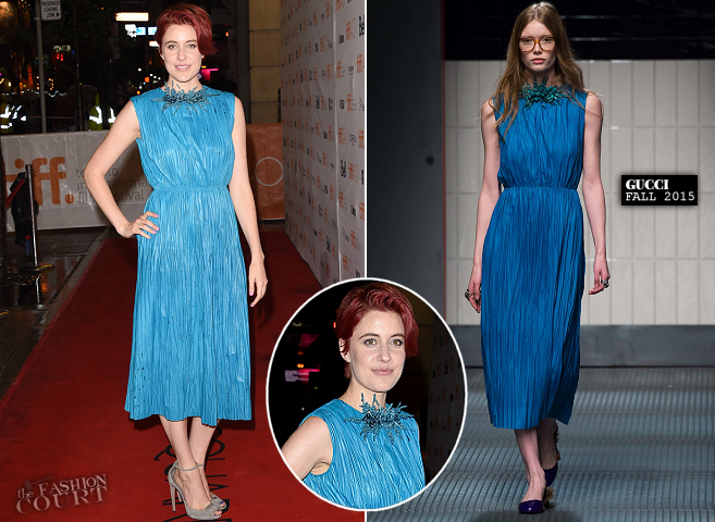 Greta Gerwig in Gucci | 'Maggie's Plan' Premiere - 2015 Toronto International Film Festival