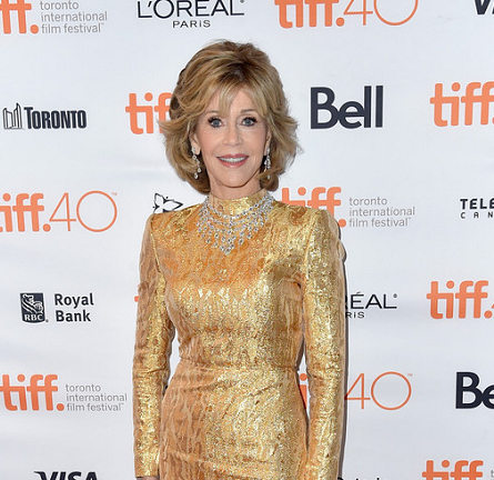 Jane Fonda in Saint Laurent Couture | 'Youth' Premiere - 2015 Toronto International Film Festival