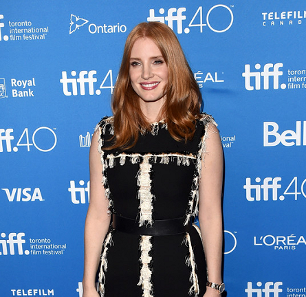Jessica Chastain in Lanvin | 'The Martian' Photocall - 2015 Toronto International Film Festival