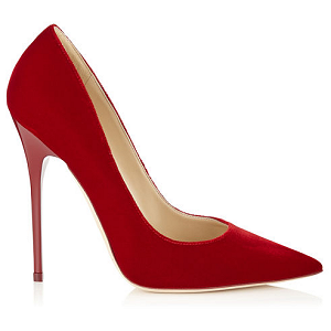 Jimmy Choo 'Anouk' Pumps in Red Velvet
