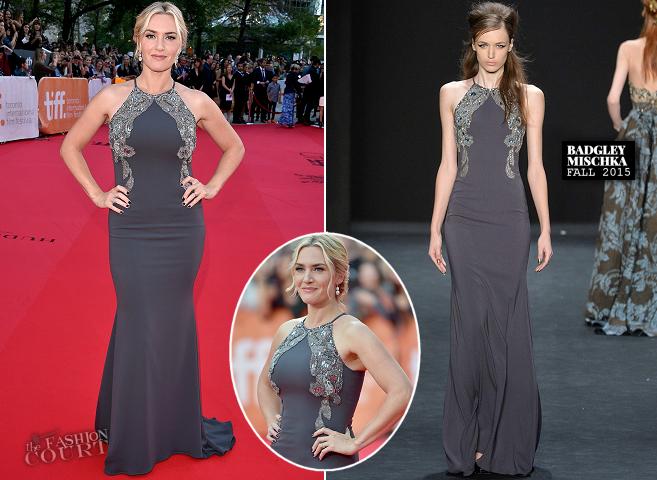 Kate Winslet in Badgley Mischka | 'The Dressmaker' Premiere - 2015 Toronto International Film Festival