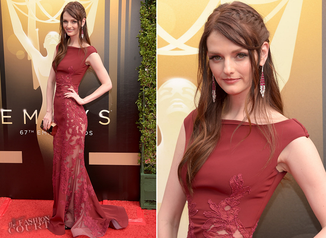 Lydia Hearst in Steven Khalil | 2015 Creative Arts Emmy Awards