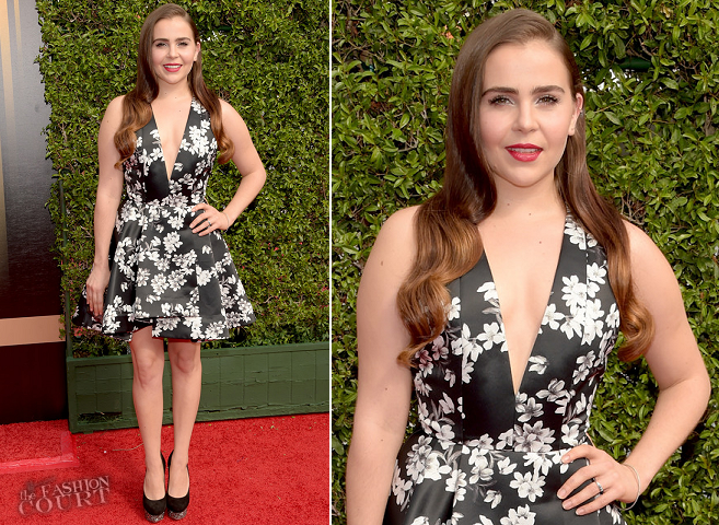 Mae Whitman in Alice + Olivia | 2015 Creative Arts Emmy Awards