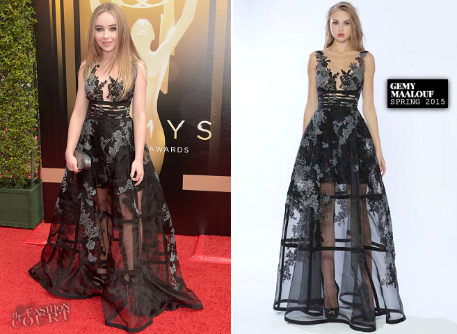 Sabrina Carpenter in Gemy Maalouf | 2015 Creative Arts Emmy Awards