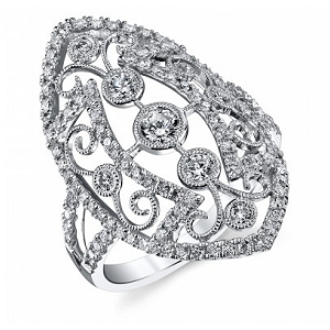SYLVIE Collection Unique Design Fashion Diamond Ring