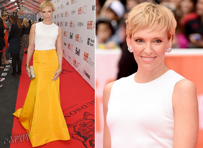 Toni Collette in Oscar de la Renta | 'Miss You Already' Premiere - 2015 Toronto International Film Festival