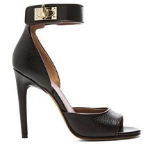 Givenchy by Riccardo Tisci Shark Tooth Clasp Leather Ankle-Strap Sandals