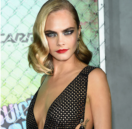 Cara Delevingne in Anthony Vaccarello | 'Suicide Squad' World Premiere