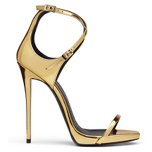 Giuseppe Zanotti 'Darcie' Metallic Sandals in Gold