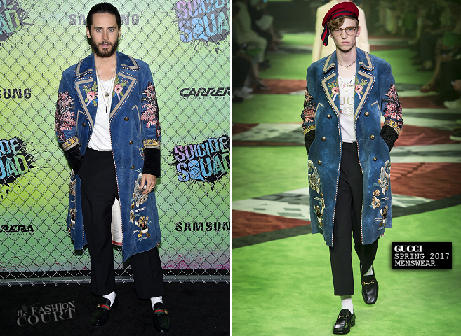Jared Leto in Gucci | 'Suicide Squad' WorldJared Leto in Gucci | 'Suicide Squad' World Premiere Premiere