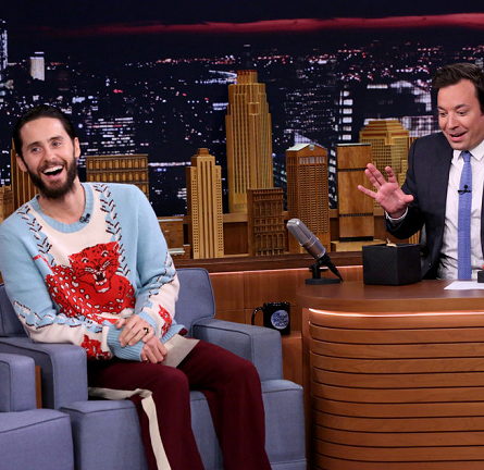 Jared Leto in Gucci | 'The Tonight Show Starring Jimmy Fallon'
