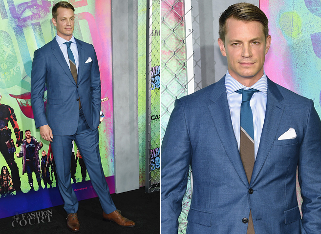 Joel Kinnaman in Burberry | 'Suicide Squad' World Premiere