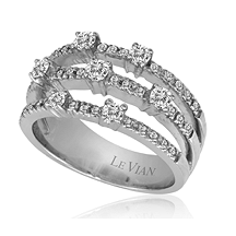 Le Vian Triple Row Diamond Ring