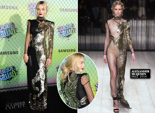 Margot Robbie in Alexander McQueen | 'Suicide Squad' World Premiere