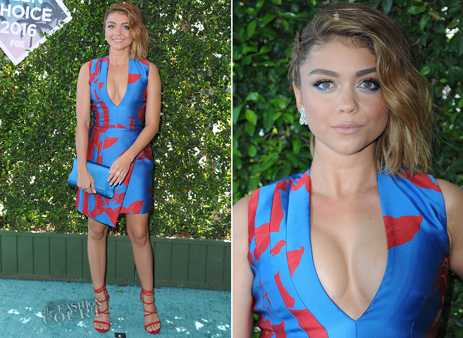Sarah Hyland in J.Mendel | 2016 Teen Choice Awards