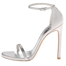 Stuart Weitzman 'Nudist' Sandals in Silver