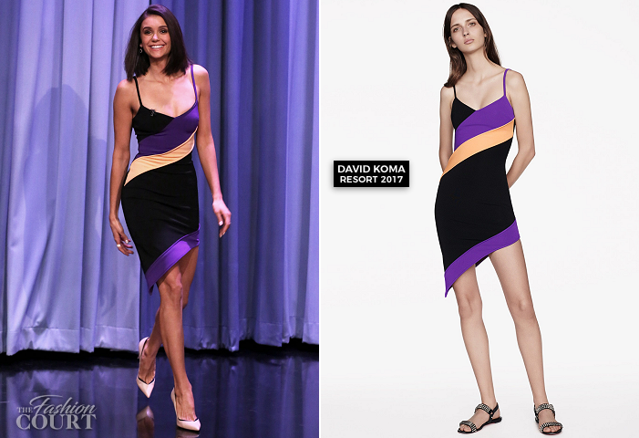 Nina Dobrev in David Koma | 'The Tonight Show starring Jimmy Fallon'