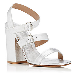 Alumnae '3-Band' Nappa Leather Block Heel Sandals