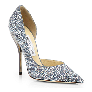 Jimmy Choo 'Whistler' Swarovski Crystal d'Orsay Pumps