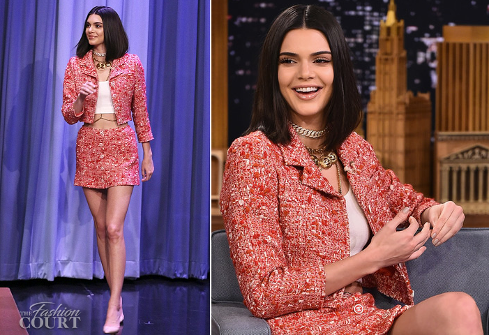 Kendall Jenner in Chanel | 'The Tonight Show starring Jimmy Fallon'